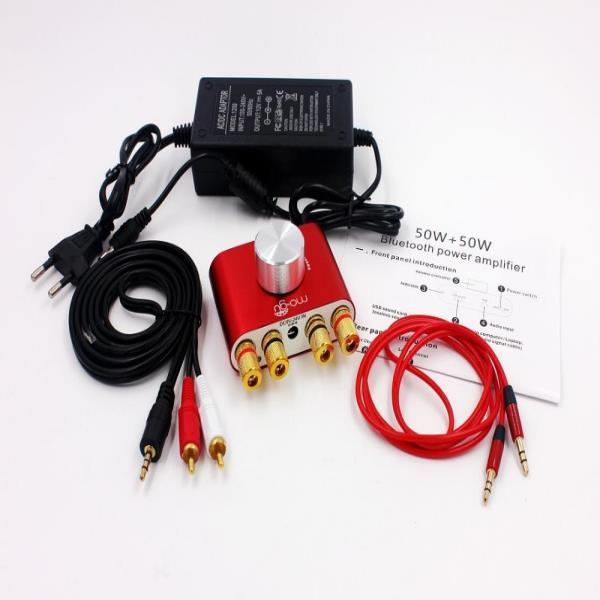 블루투스 리시버 오디오 앰프 50W + 50W F900 앰프 Hifi 스테레오 파워 앰프 (전원 어댑터 포함), 01 CHINA_01 Blue