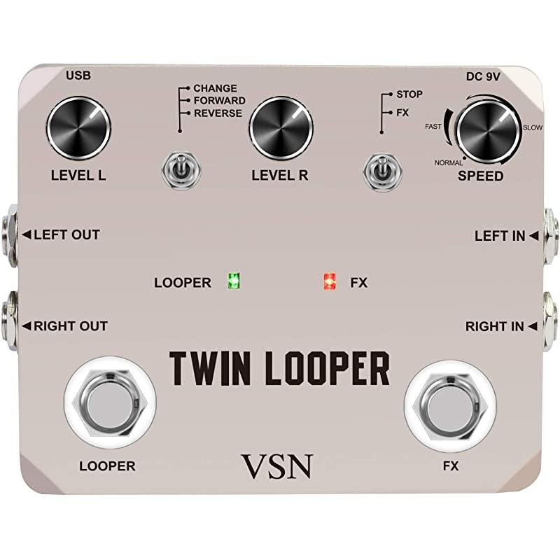 10분 기록된 재생의 트윈 루퍼 페달 전기 기타 효과 루프 스테이션 11종, 상세페이지 참조