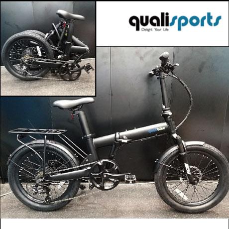 퀄리 2020년 Q3 스포츠 접이식 대용량 14ah 100Km 20인치 폴딩형 전기자전거, 블랙