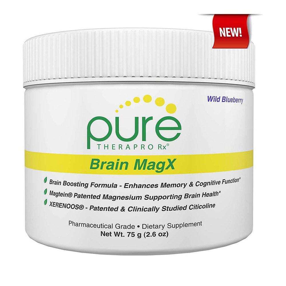 Pure Therapro Rx Brain MagX 퓨어 테라프로 알엑스 브레인 마그네슘X 와일드 블루베리 2.6oz(75g), 1개, 1