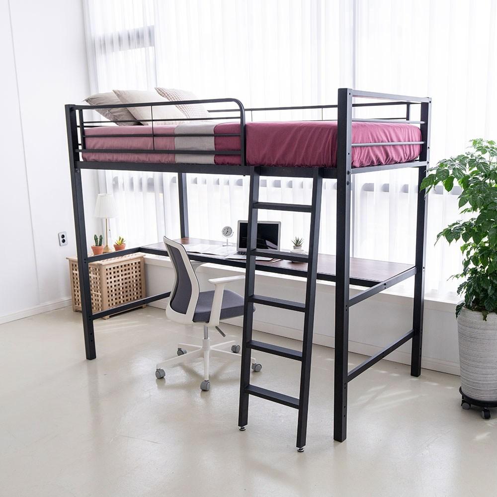 라피네 철제 벙커침대 이층침대, 블랙벙커+책상
