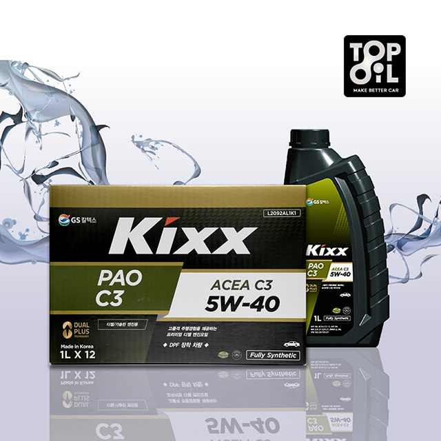 킥스파오 KIXX PAO C3 A3B4 5W30 5W40 1BOX 가솔린 디젤 엔진오일, KIXX PAO C3 5W40 1BOX