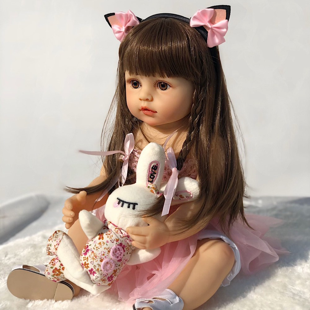 [당배]퍼스트패밀리 베렝구어 리본돌 베이비돌 reborndoll 애착인형 아기인형 고양이 55cm