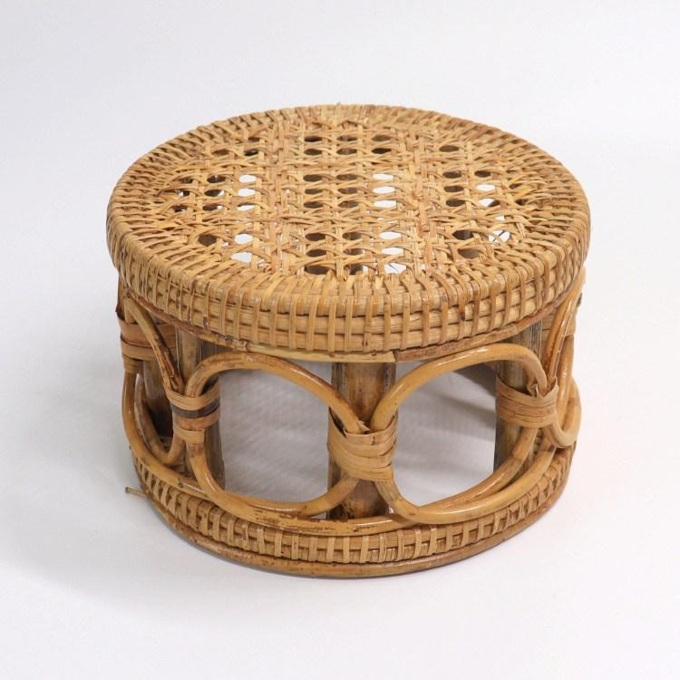 라탄스툴 3종 라탄의자 라탄테이블 베란다화단꾸미기 이케아라탄, 3. 55cm×30cm