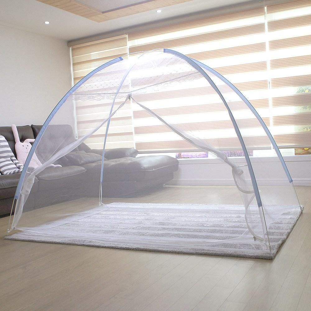 ESAVE 모기장 4~5인용_단문형 텐트형모기장, 블루