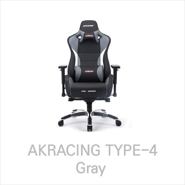 (XENICS 제닉스 AKRACING TYPE-4 게이밍 의자 (그레이 제닉스/게이밍/의자/그레이