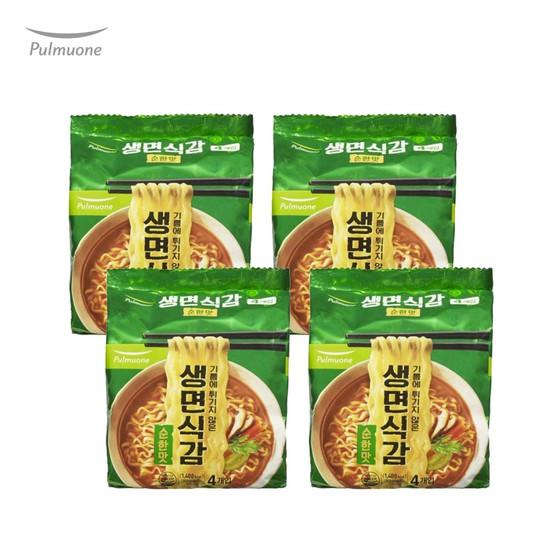 [풀무원]생면식감 생라면 순한맛 4개입x4봉/16개입, 없음