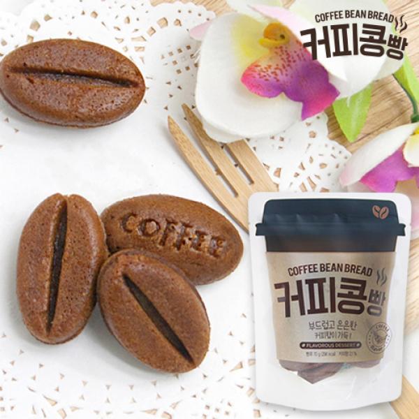 [만쥬데이]부드럽고 은은한 커피콩빵 9개입 x 5봉 (총 350g), 단일상품