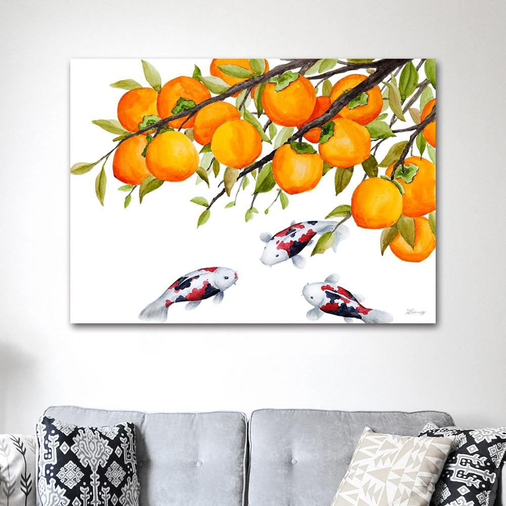 나봄갤러리 감나무와 잉어 감그림 감나무 액자, 5.캔버스 액자