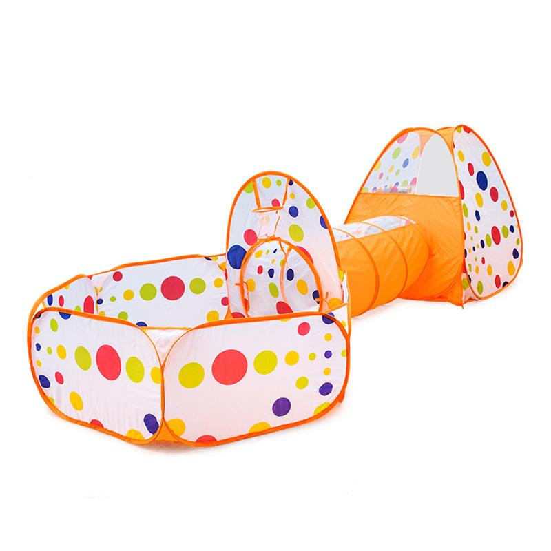 그릿(Grit) 어린이 터널 텐트 놀이 볼풀 아동 실내 놀이방 하우스 장난감, 주황