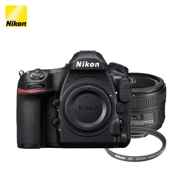 니콘 D850 + AF-S 50mm f/1.8G NC-52 필터, 니콘 정품 D850 패키지