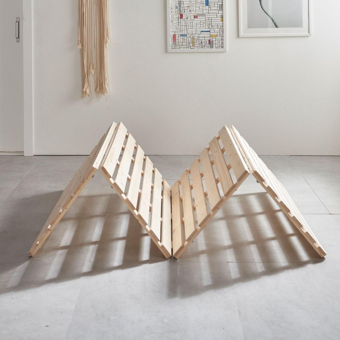 그린우드 원목 4단 매트리스 깔판 침대 프레임 패밀리 저상형, 미니멀티싱글(MMS)