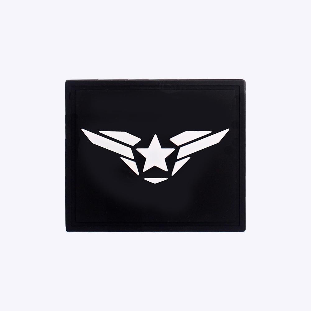 군화와고무신 공군 PVC 패치 - 군인가방 와펜