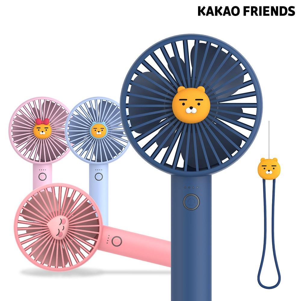 카카오프렌즈 휴대용 썸머 데일리 실리콘 스트랩 선풍기, 라이언 (POP 1740809277)