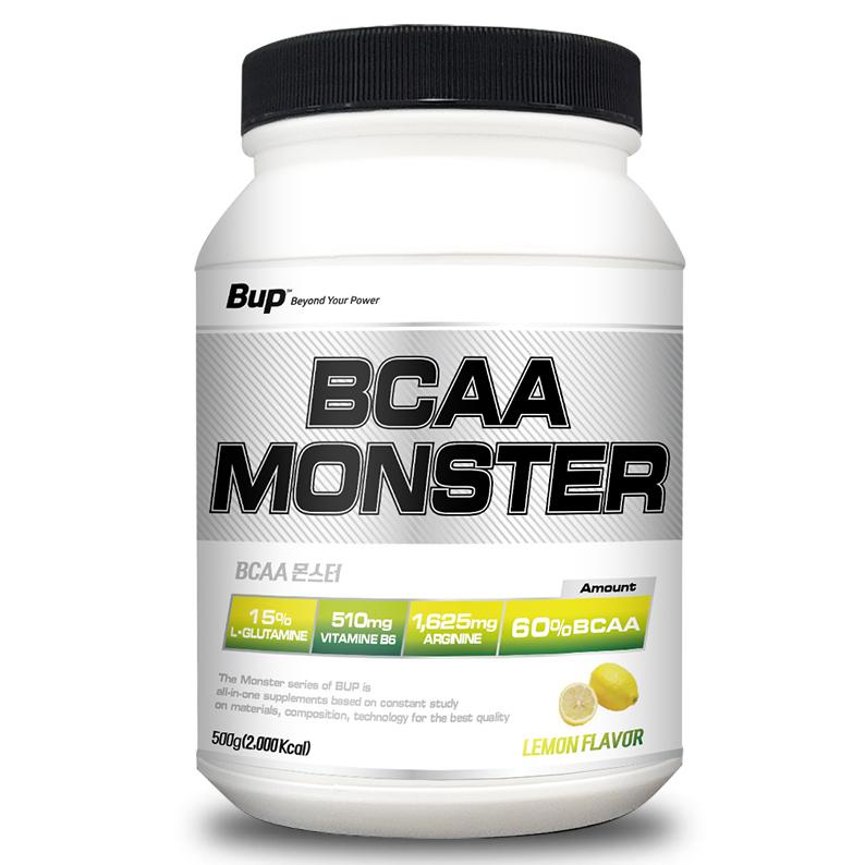 BUP BCAA몬스터 레몬맛 아미노산 헬스보충제 BCAA, 1통, 500g