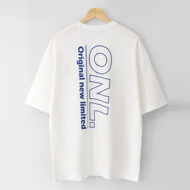 엠엔씨 남녀공용 세로레터링 오버핏 반팔티 MDVT594NL