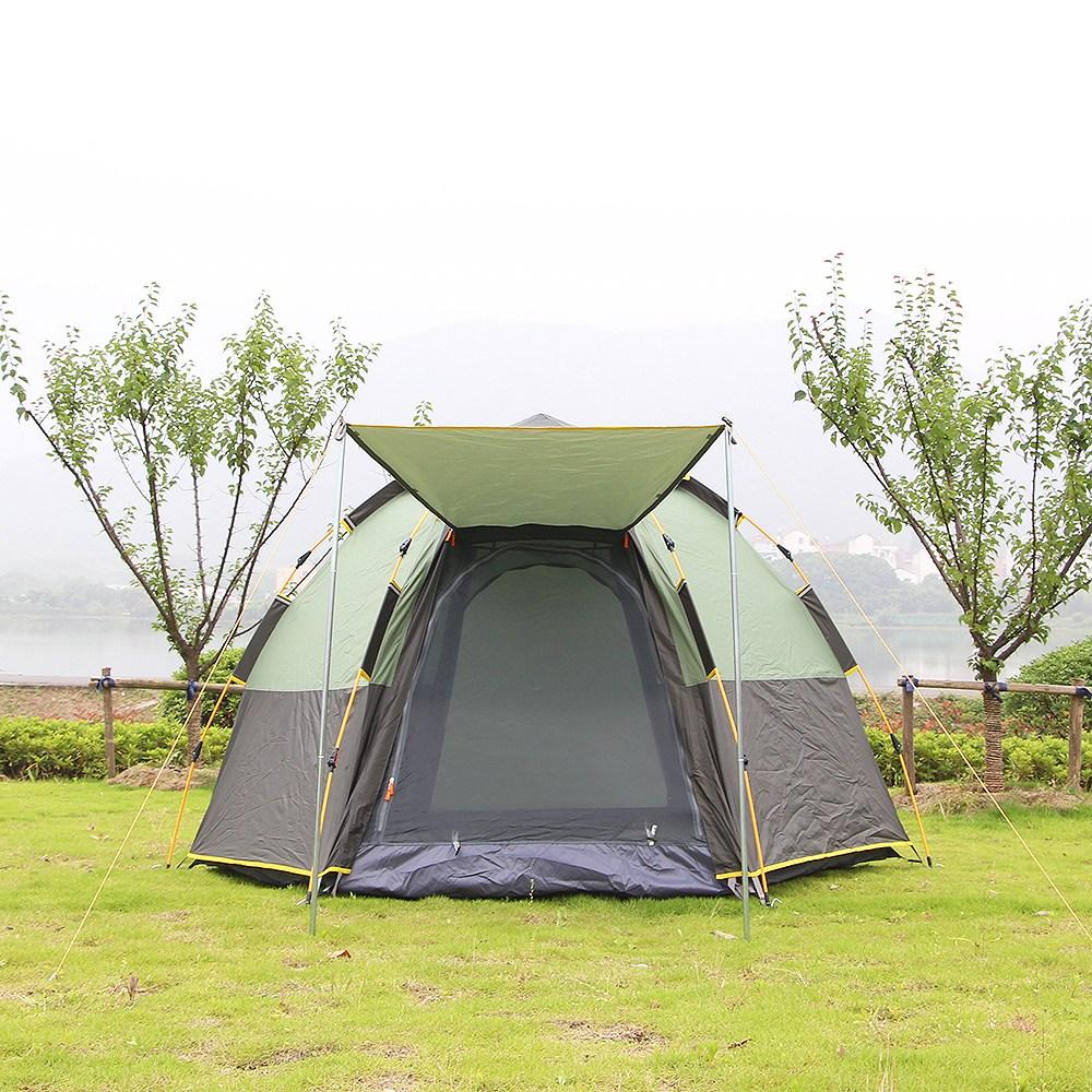 스텔라룸 5-6인용 원터치 그늘막 오토 캠핑 텐트 타프 일체형