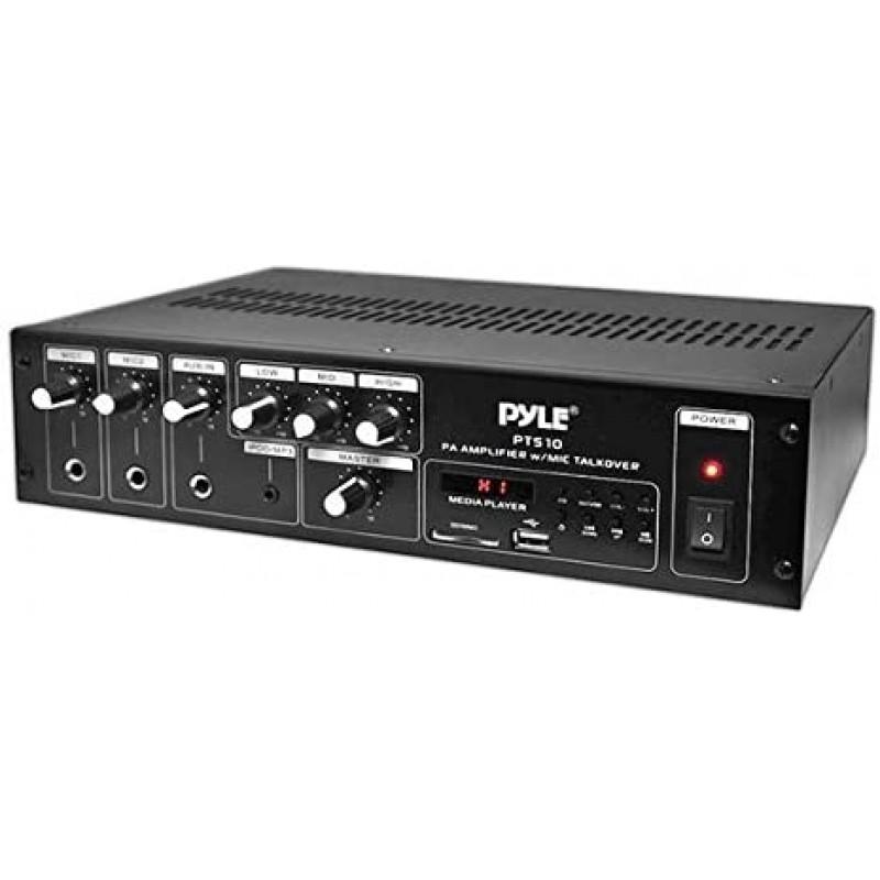 홈 오디오 파워 앰프 믹서 - 240W 5채널 사운드 스테레오 엔터테인먼트 수신기 박스(FM 라디오 안테나 포함) USB RCA AUX, 단일옵션, 단일옵션