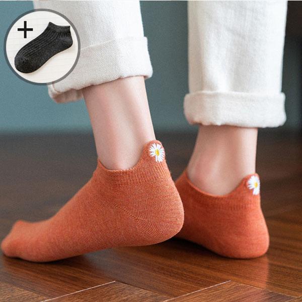 이너피아 뒷꿈치꽃자수 여성 패션 발목양말 10켤레+1켤레 더