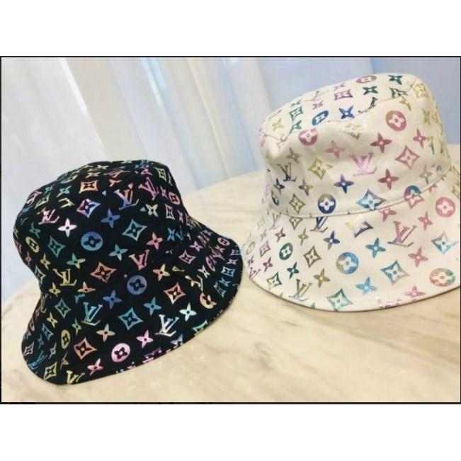 행복드림카 루이비통 로고 레인보우 벙거지 모자