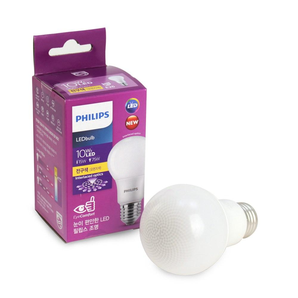 필립스 LED전구 10W (2019 4월 신제품), 1개, 전구색(30000K)