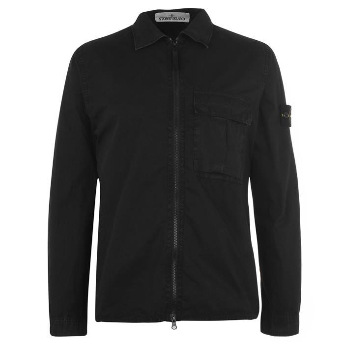 스톤아일랜드 블랙 다이드 캔버스 오버셔츠자켓