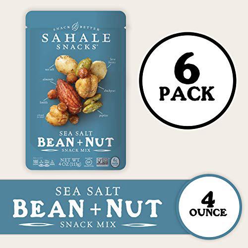 Sahale Snacks Sea Salt Bean Nut Snack Mix 4 Ounces 6 Count Sahale Snacks Sea Salt Bean Nut Snack, 1