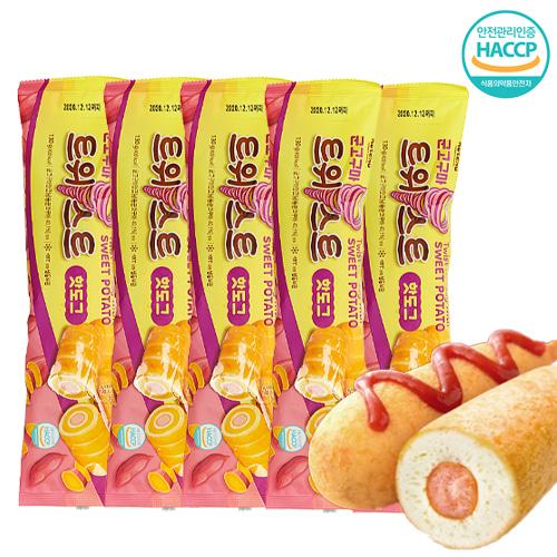 [핫도그의 특별한맛] 회오리 군고구마 핫도그 130gx5EA, 단품