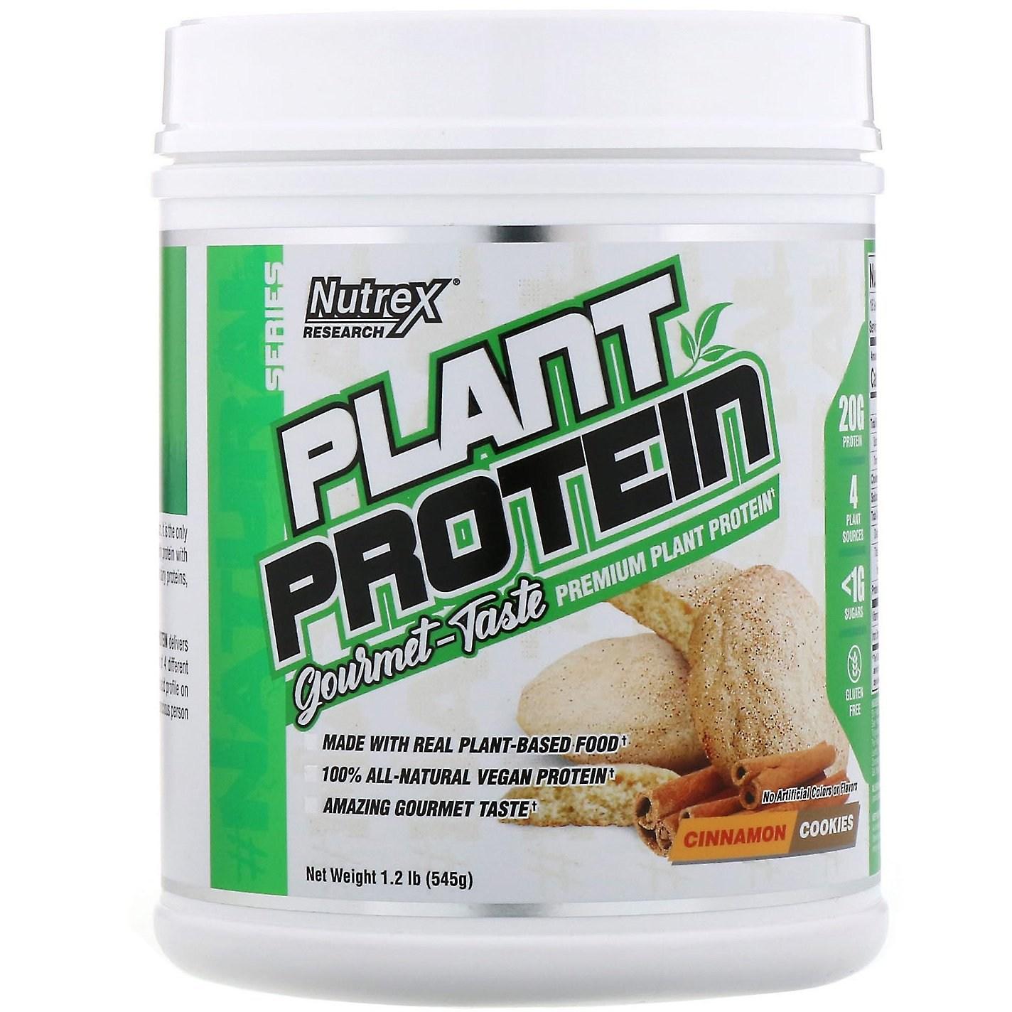 뉴트렉스리서치랩 네추럴 시리즈 식물성 프로틴 시나몬 쿠키 545g 단백질, 1개, -