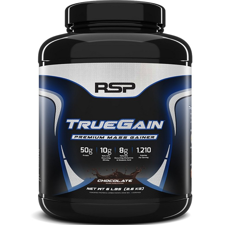 RSP Nutrition TrueGain Premium Mass Gainer Chocolate 6lbs (2.6kg), 선택, 상세설명참조