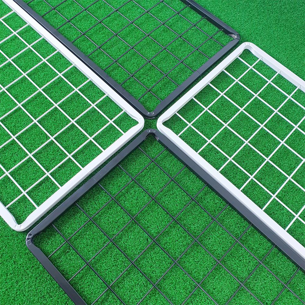 국내생산 메쉬망 네트망 철망 매장진열대 벽부착걸이2개 포함, 블랙