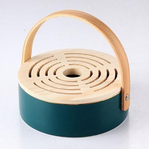 우드 캠핑 모기향 거치대 케이스 홀더 걸이 휴대용 야외 소품, 하얀 (POP 5883721493)