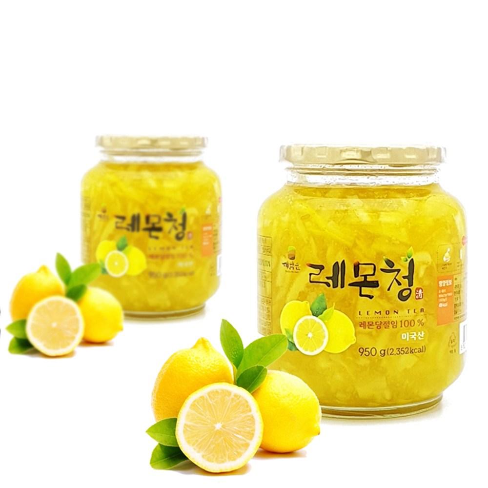 겨울향기 레몬청 950g 레몬청세트 수제청 과일청, 2병