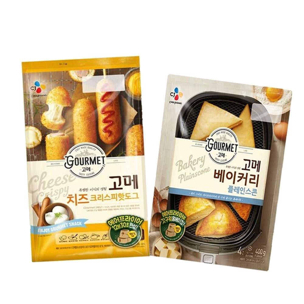 (냉동)고메 플레인스콘400gx1개+(치즈)크리스피핫도그425gx1개, 1세트