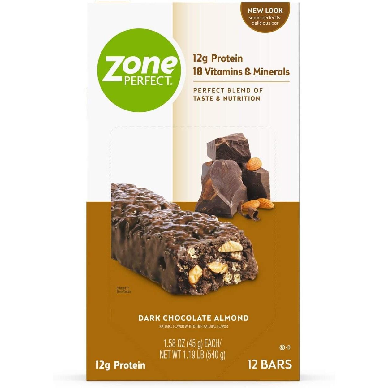 존퍼펙트 뉴트리션 바 12g 프로틴, 12개입, Dark Chocolate Almond