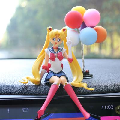 브레인포 미소녀전사 세일러문 슬램덩크 차량용 피규어 장식품, 06-세라+풍선