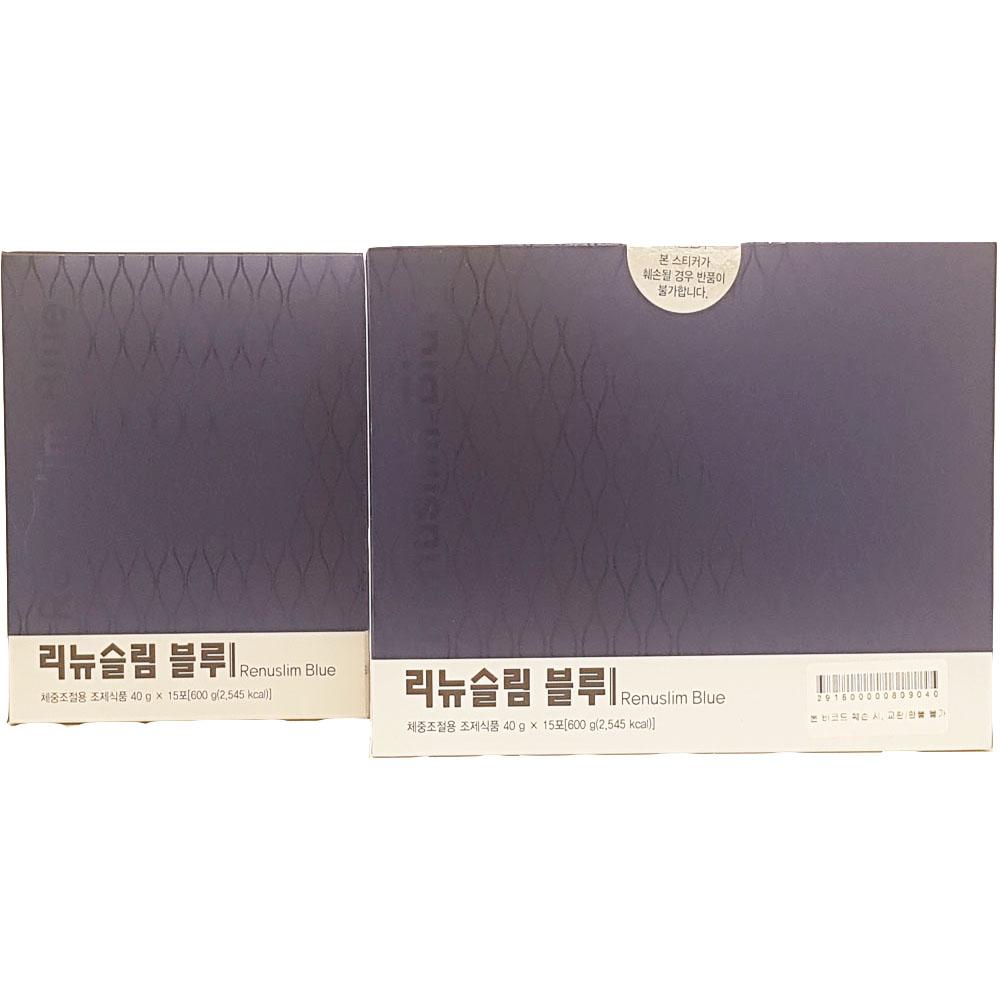 리뉴메디 리뉴슬림 블루 40gX15포X2팩 식사대용 체중조절 다이어트쉐이크 체지방분해