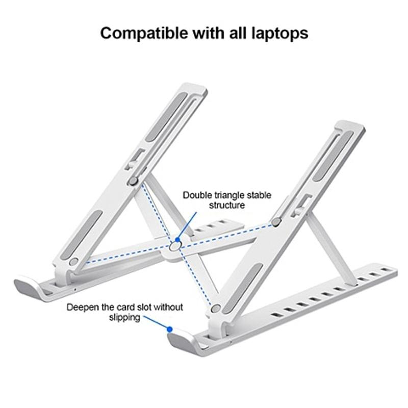조정 가능한 접이식 스탠드 미끄럼 방지 데스크탑 홀더 노트북 받침대 테블릿 거치대, 하얀-17-5764660215