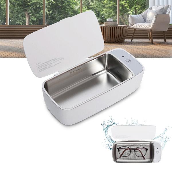 루희엠 다용도 초음파세척기 304스텐 렌즈 안경세정기, 1개, 루희엠 초음파세척기(화이트)