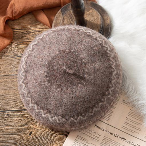 - 에스닉 패턴 울 베레모 6colors 가을 겨울 빵모자