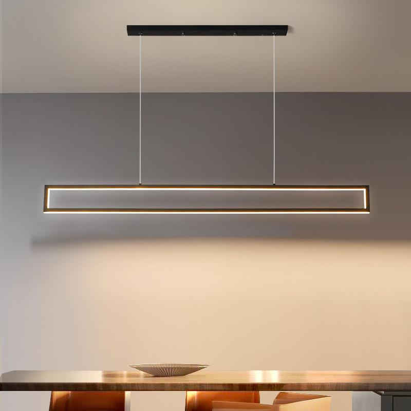 LED 사각 펜던트 식탁등 서재 카운터 사무실 인테리어 조명 1m 1.2m, 주광색(하얀빛)