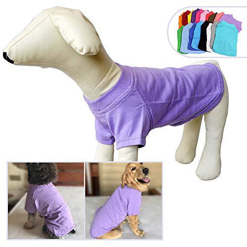 2018 애완 동물 의류 중형 중형견을위한 개 옷 비어있는 티셔츠 티셔츠 100 % 코튼 개 티즈 클래식 (XXXXL 바이올렛) 2018 Pet Clothing Dog Cloth, 1set