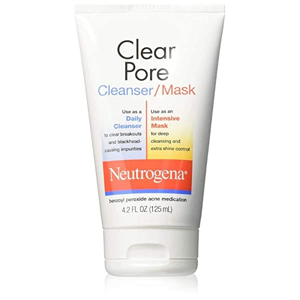 Neutrogena Clear Pore Cleanser/Mask 4.20 oz (Pack of 4), 상세내용참조