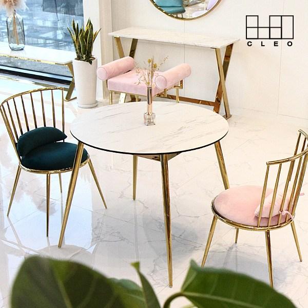 끌레오 베로니카 세라믹 원형 식탁 테이블 CL283, 01_화이트