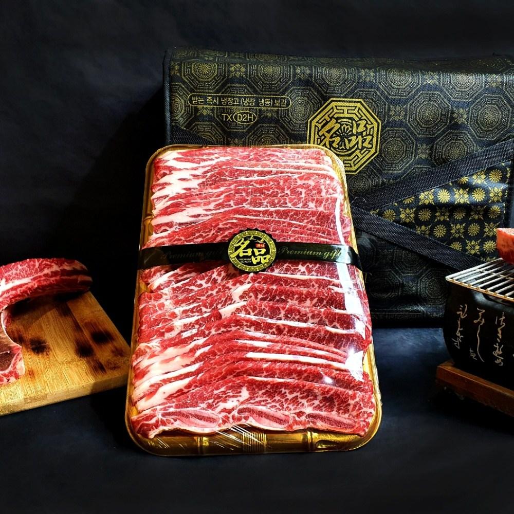 LA갈비 선물세트 명절고기 블랙앵거스 CAB 미국산 소고기 구이용 소갈비 추석 설 명절 소고기선물세트, LA갈비선물세트 1호(1.5kg)
