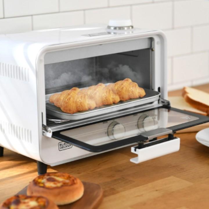 블랙앤데커 전기 미니 제빵용 스팀 토스터기 오븐 에어프라이어 9L, 1개 (POP 4944004649)