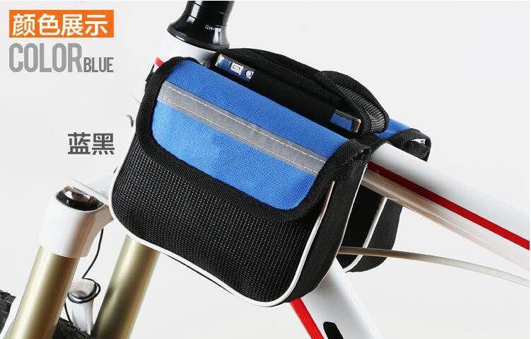 자전거가방 적합사용 자이언트 자전거 부속품 대전 프론트가방 핸드폰용 주머니, T07-이코노미타임 블루, C01-5L