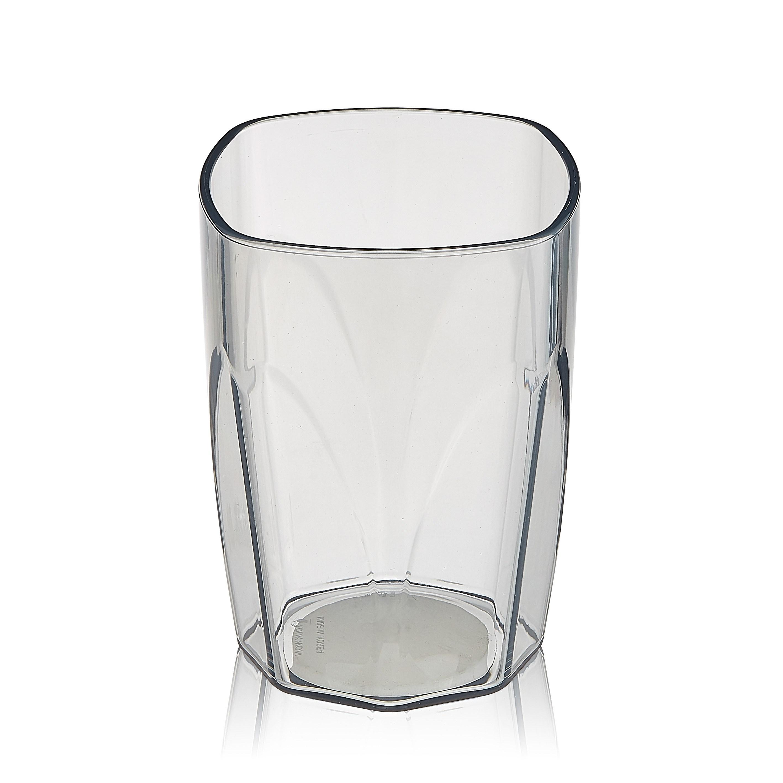 엔에프락 트라이탄컵 안깨지는 투명 물컵 10개, 그레이/사각