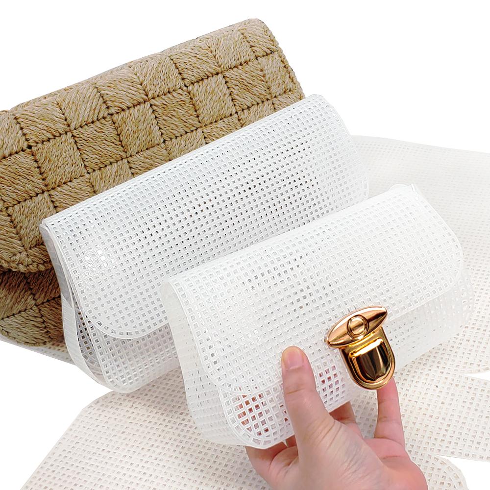 퀼트여왕 클러치망 3가지 사이즈-뜨개가방망 망스티치 메쉬보드 가방망 가방옆판 가방바닥 가방만들기, 클러치망[소]18cm