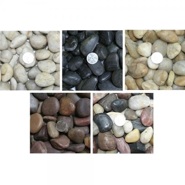 [DS] 우화석(강자갈) 소포장 흑자갈 백자갈 정원자갈, 우화석(혼합)(1kg)